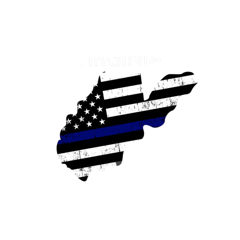 West Virginia Distressed Subdued US Flag Thin Blue Line/Thin Red Line/Thin Green Line Sticker. Support Police/Firefighters/Military