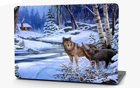Wolves Landscape Vinyl Laptop Computer Skin Sticker Decal Wrap Macbook Various Sizes