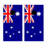 2 x Cornhole Board Bag Toss Vinyl Wrap Set-Australian Flag Universal Fit Oracal 3M