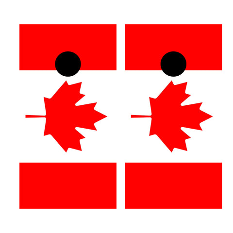 2 x Cornhole Board Bag Toss Vinyl Wrap Set-Canadian Flag Universal Fit Oracal 3M