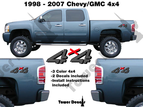 4x4 Truck Bedside Vinyl Decal fits: Chevrolet Silverado GMC Sierra HD Off Road