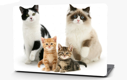Cat Family Vinyl Laptop Computer Skin Sticker Decal Wrap Macbook Various Sizes