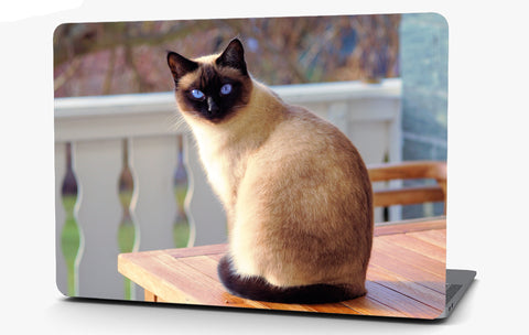 Siamese Cat Vinyl Laptop Computer Skin Sticker Decal Wrap Macbook Various Sizes