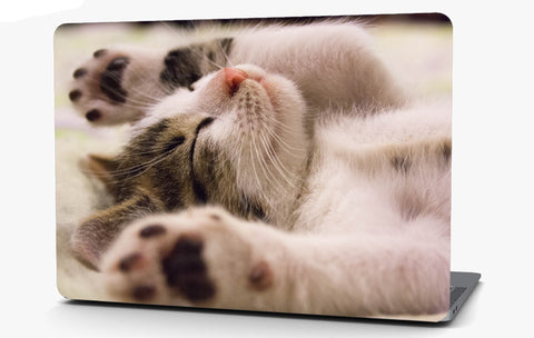 Kitten Relaxing Vinyl Laptop Computer Skin Sticker Decal Wrap Macbook Various Sizes