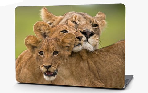 Lioness and Cubs Vinyl Laptop Computer Skin Sticker Decal Wrap Macbook Various Sizes