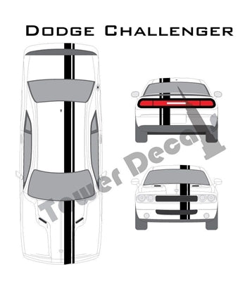 "3-5"" Single Rally Racing Pin Stripe Cast Vinyl Decal Fits Dodge Challenger"