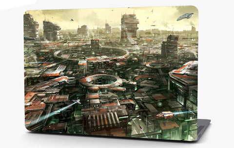 Future City Vinyl Laptop Computer Skin Sticker Decal Wrap Macbook Various Sizes