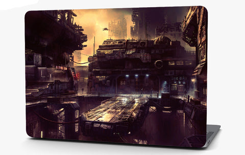 Future Dark City Vinyl Laptop Computer Skin Sticker Decal Wrap Macbook Various Sizes