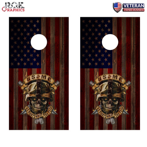 2x Marine Corps Cornhole Board Bag Toss Vinyl Wrap Set