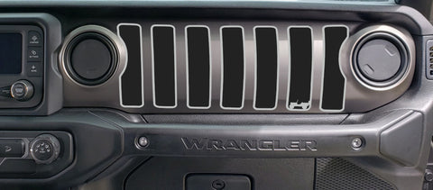 2 Color Willie Dash grill decal Fits: 2018 & up Jeep Wrangler JL JT Sahara Altit