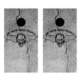 2 x Cornhole Board Bag Toss Vinyl Wrap Set-We Hear Dead People Universal Fit Oracal 3M