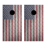 2 x Cornhole Board Bag Toss Vinyl Wrap Set-Diamond Plate American Flag Universal Fit Oracal 3M