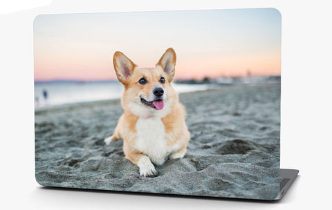 Corgi Dog Vinyl Laptop Computer Skin Sticker Decal Wrap Macbook Various Sizes