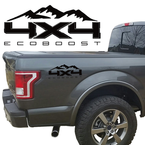 4X4 ECOBOOST MTN BEDSIDE VINYL DECAL FORD TRUCK 2008-2017 F250 F350 SUPER DUTY