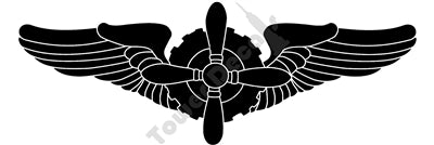 Flight Engineer FE Wings WWII Army Air Corps Vinyl Decal Sticker