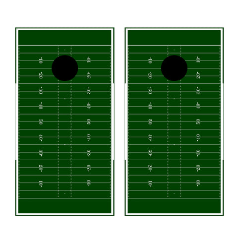 2 x Cornhole Board Bag Toss Vinyl Wrap Set-Football Field Universal Fit Oracal 3M