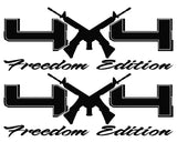 4X4 Freedom Edition AR15 Vinyl Decals Fits Ford Trucks 2008-2016 F150 F250 F350 -0232