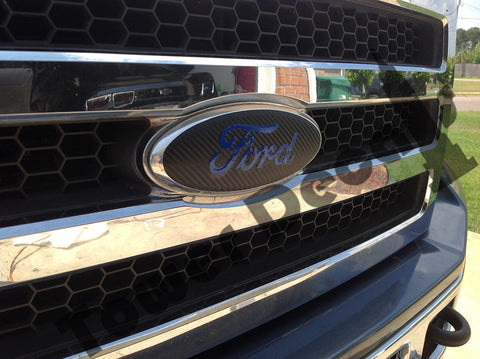 Ford Emblem Vinyl Overlay Front and Rear, Fits Ford Cars and Trucks