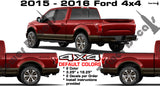 4x4 BED SIDE VINYL DECAL 2 color STICKER FOR FORD F150 F250 F350 F450 SUPERDUTY