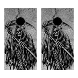 2 x Cornhole Board Bag Toss Vinyl Wrap Set-Grim Reaper Universal Fit Oracal 3M
