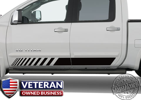 Universal Door Runner Half Strobe Forward Vinyl Decal Set: Fits Any Dodge Ram Ford Chevy Nissan Toyota