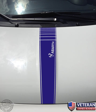 Fiat Abarth and Scorpion - Center Hood Stripe Decal for Abarth, 500 2010-2015