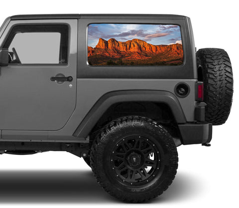 Universal Mountain Desert Window Tint Perforated Vinyl Fits: Jeep 2/4 Door Hard Top