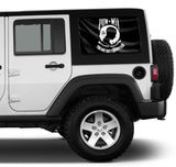 Universal POW MIA Flag Window Tint Perforated Vinyl Fits: Jeep 2/4 Door Hard Top