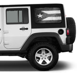 Universal Puerto Rico Flag Window Tint Perforated Vinyl Fits: Jeep 2/4 Door Hard Top