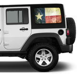 Universal Texas Flag Window Tint Perforated Vinyl Fits: Jeep 2/4 Door Hard Top