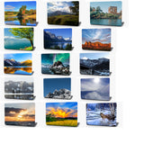 Mountain Lake Snow Landscape Vinyl Laptop Computer Skin Sticker Decal Wrap Macbook Various Sizes
