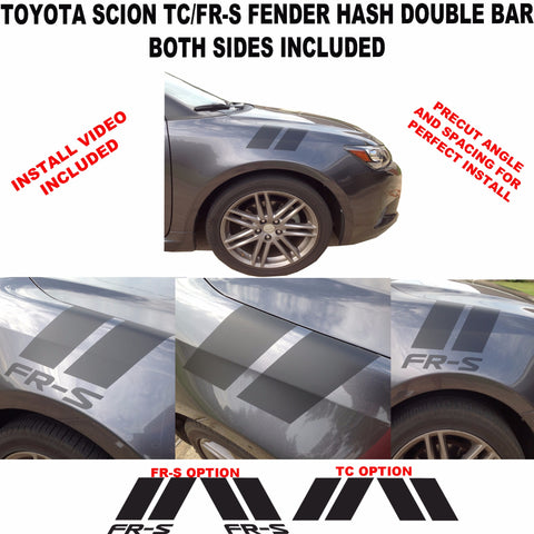 Fender Hash Double Hash vinyl graphics racing for Toyota Scion tC FS-R 2005-2016