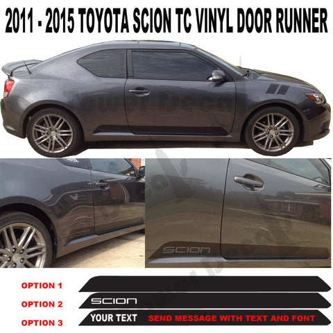 2011-2015 Toyota Scion TC Door Runner Vinyl Graphic Scion Accessories Decals