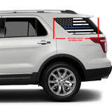 Universal Black & White American Flag Window Tint Perforated Vinyl Fits: Any SUV