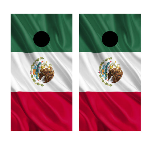 2 x Cornhole Board Bag Toss Vinyl Wrap Set-Mexico Flag Universal Fit Oracal 3M