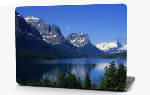 Snow Capped Mountain Lake Landscape Vinyl Laptop Computer Skin Sticker Decal Wrap Macbook Various Sizes