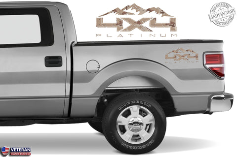 4X4 PLATINUM MOUNTAIN Bedside Desert Decal Fit Ford 2008-2017 F150-250 SUPERDUTY