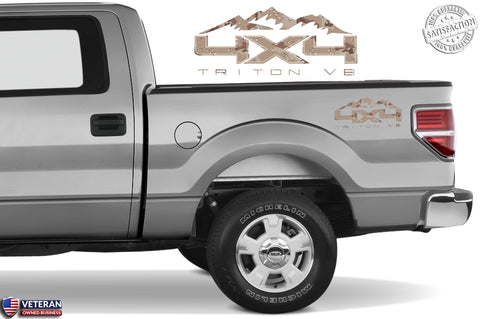 4X4 TRITON V8 MTN Bedside Desert Decal Fit Ford 2008-2017 F150-250 SUPER DUTY