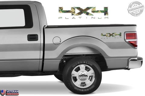 4X4 PLATINUM Bedside Forest Decal Fits Ford Trucks 2008-2017 F150-250 SUPER DUTY