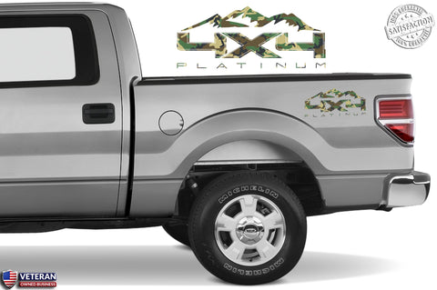 4X4 PLATINUM MOUNTAIN Bedside Forest Decal Fit Ford 2008-2017 F150-250 SUPER DUTY