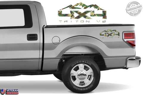 4X4 TRITON V8 MOUNTAIN Bedside Forest Decal Fit Ford 2008-2017 F150-250 SUPER DUTY