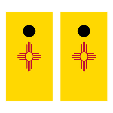 2 x Cornhole Board Bag Toss Vinyl Wrap Set-New Mexico Flag Universal Fit Oracal 3M