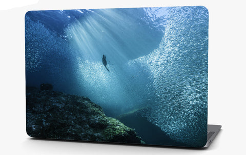 Ocean Swarm of Fish Vinyl Laptop Computer Skin Sticker Decal Wrap Macbook Various Sizes