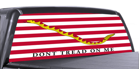 Don't Tread on Me 2 Universal Truck Rear Window 50/50 Perforated Vinyl Decal
