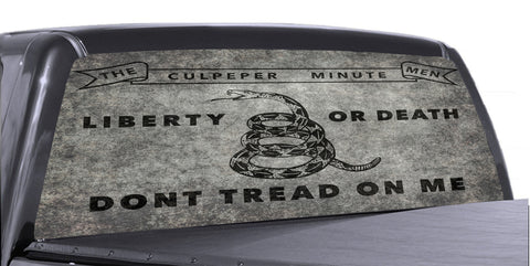 Don't Tread on Me 1 Universal Truck Rear Window 50/50 Perforated Vinyl Decal