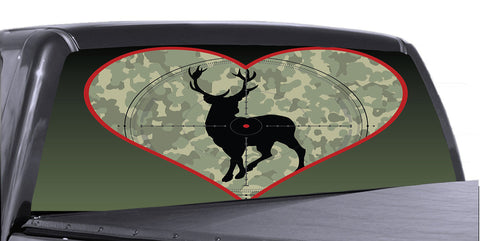 Hunting Scene 3 Universal Truck Rear Window 50/50 Perforated Vinyl Decal