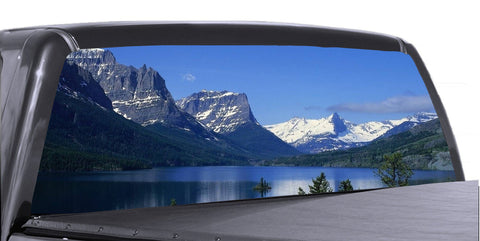 Mountain Scene Universal Truck Rear Window 50/50 Perforated Vinyl Decal