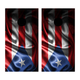 2 x Cornhole Board Bag Toss Vinyl Wrap Set-Puerto Rico Flag Waving Universal Fit Oracal 3M