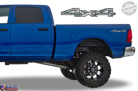 4x4 Digi Camo Bedside Decals Fits Dodge Ram 2010-13 1500 2500 3500 Power Wagon