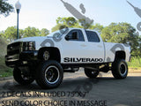 SILVERADO Rocker panel door runner decal Fits: Chevy Silverado 4 door trucks